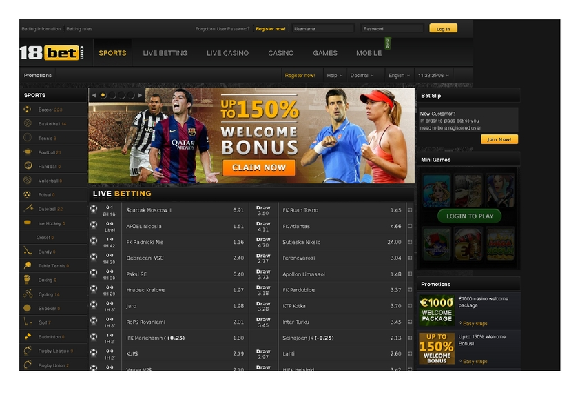 18 Bet review on Big Bonus Slots
