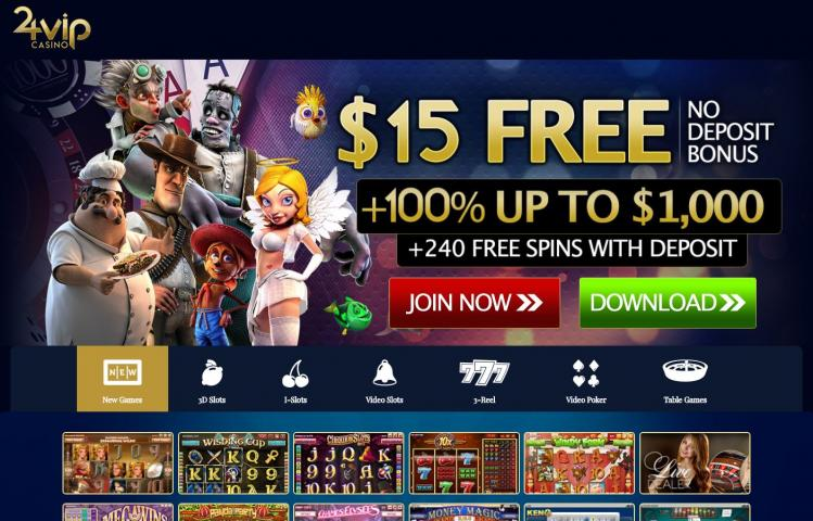 24 Vip review on Big Bonus Slots