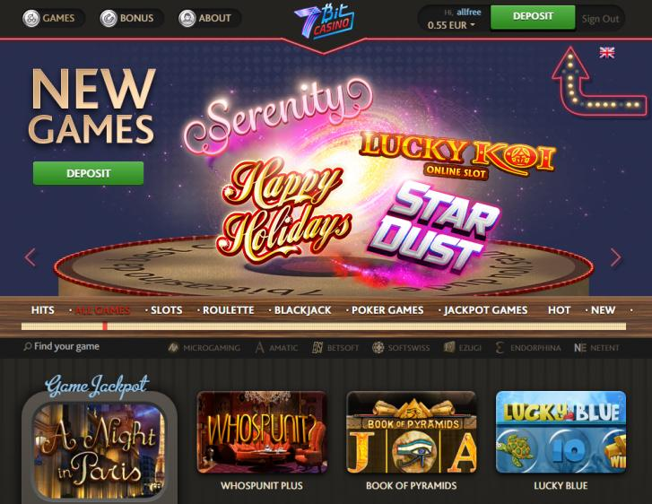 7Bit review on Big Bonus Slots
