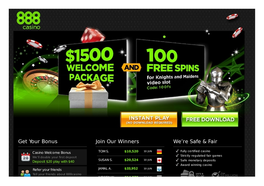888 Casino review on Big Bonus Slots