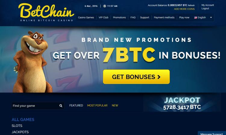 Betchain review on Big Bonus Slots