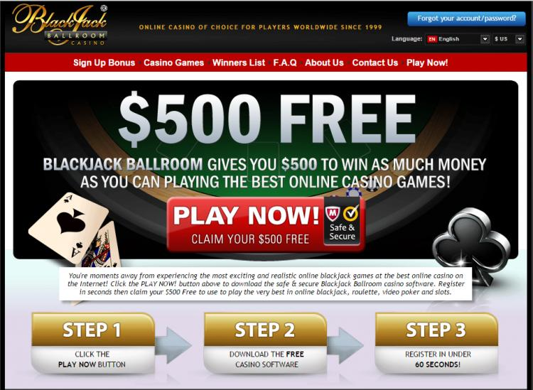 Blackjack Ballroom review on Big Bonus Slots