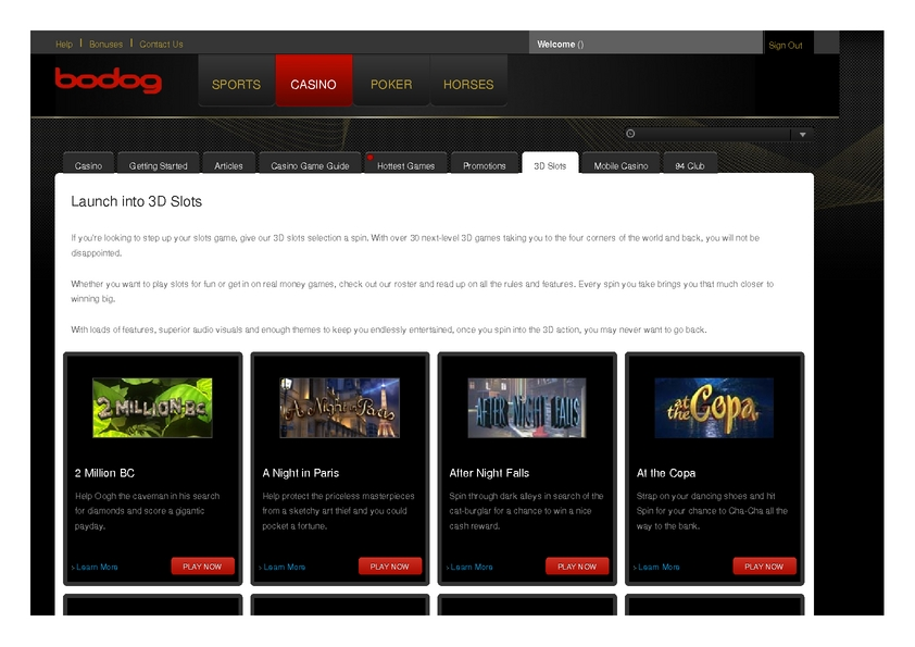 Bodog review on Big Bonus Slots