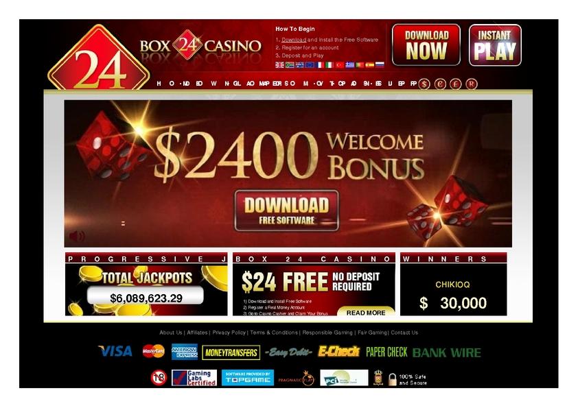 Box24 review on Big Bonus Slots