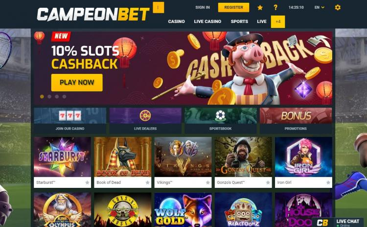 Campeon review on Big Bonus Slots