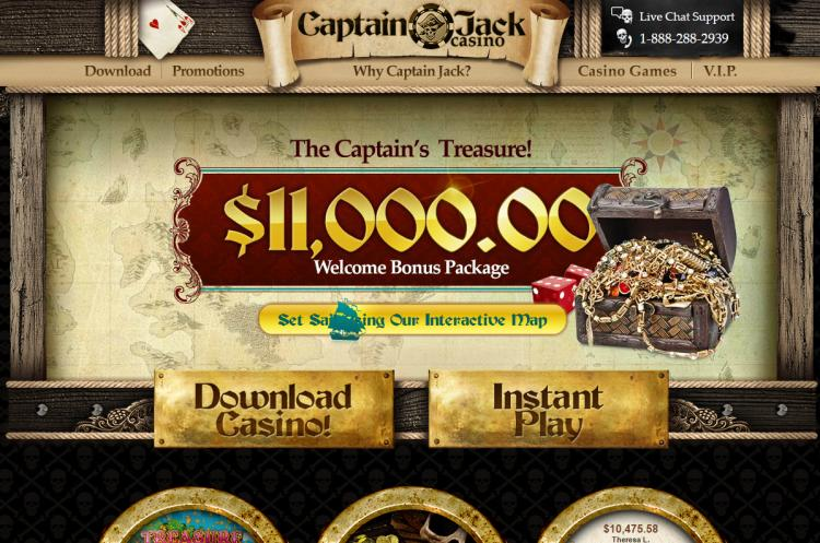 Captain Jacks review on Big Bonus Slots