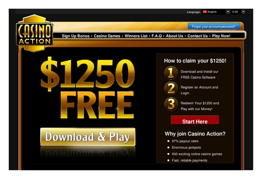 Casino Action review on Big Bonus Slots