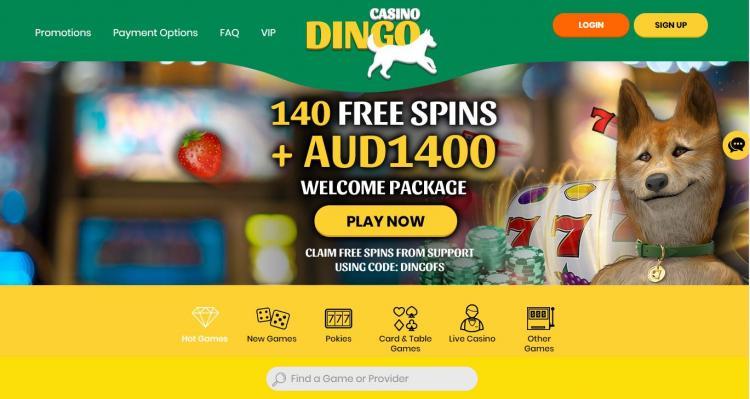 Casino Dingo review on Big Bonus Slots