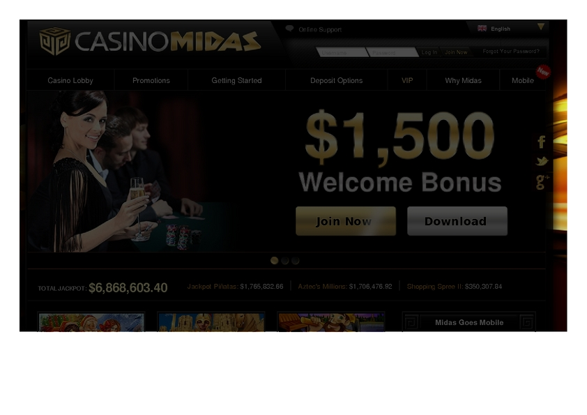 Casino Midas review on Big Bonus Slots