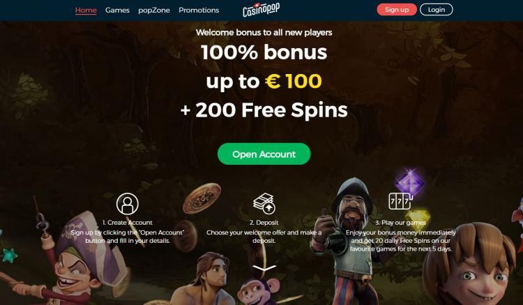 Casino Pop review on Big Bonus Slots