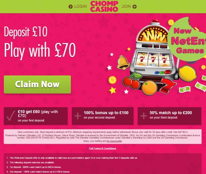 Chomp review on Big Bonus Slots