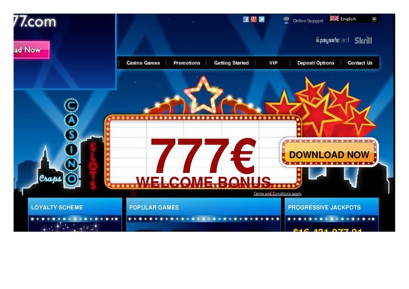 Club 777 review on Big Bonus Slots