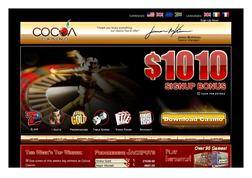CoCoa review on Big Bonus Slots