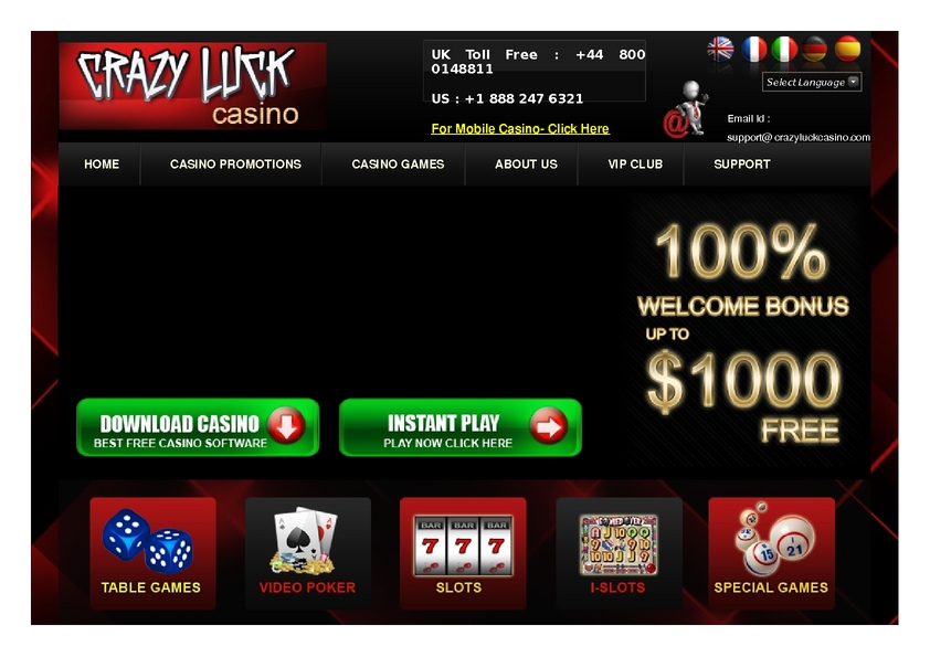 Crazy Luck review on Big Bonus Slots