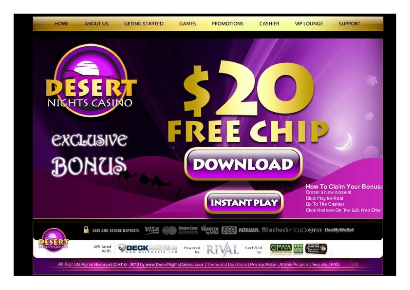 Desert Nights Rival review on Big Bonus Slots