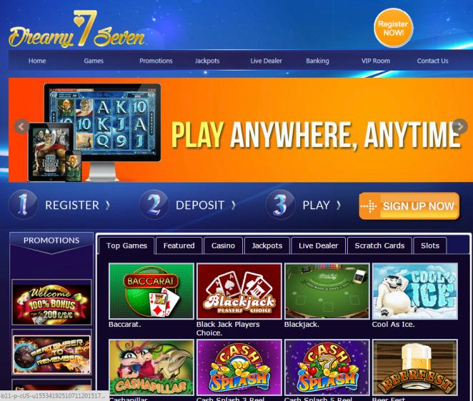 Dreamy 7 review on Big Bonus Slots