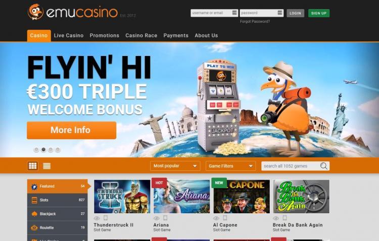 emu Casino review on Big Bonus Slots