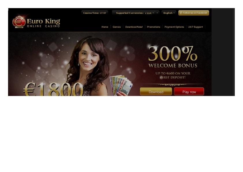 Euro King review on Big Bonus Slots