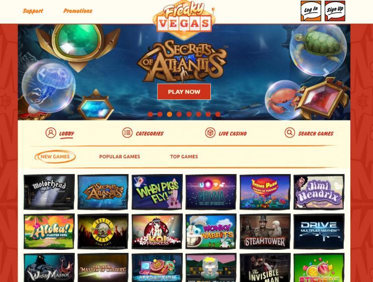 Freaky Vegas review on Big Bonus Slots