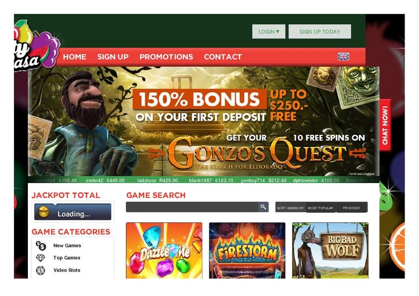 Fruity Casa review on Big Bonus Slots