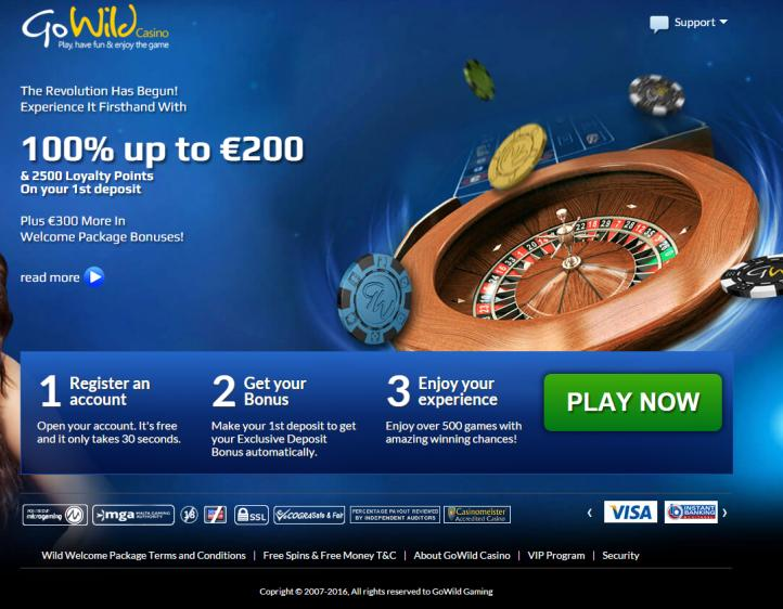 Go Wild review on Big Bonus Slots