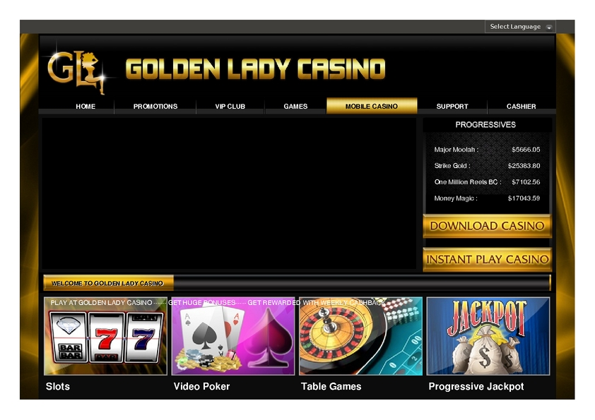 Golden Lady review on Big Bonus Slots