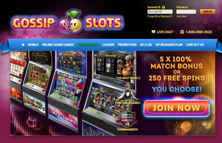 Gossip Slots review on Big Bonus Slots