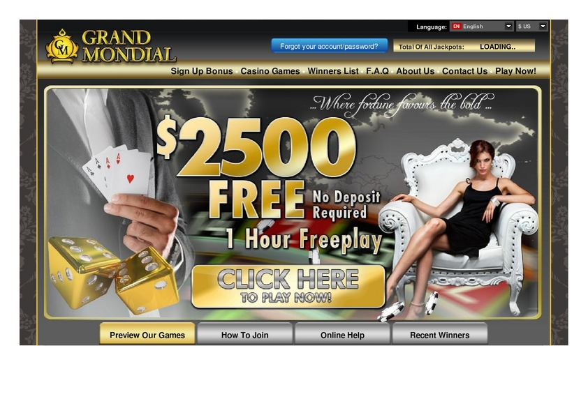 Grand Mondial review on Big Bonus Slots