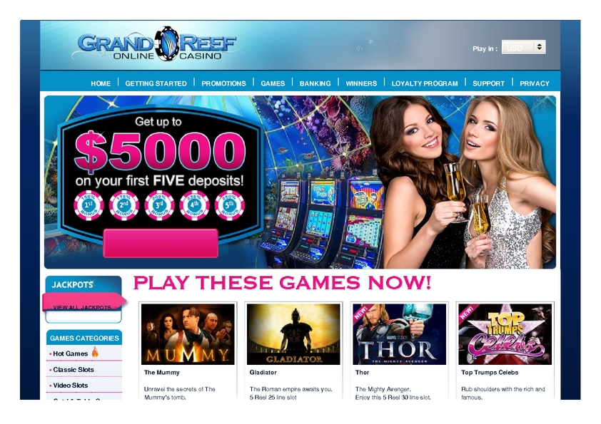 Grand Reef review on Big Bonus Slots