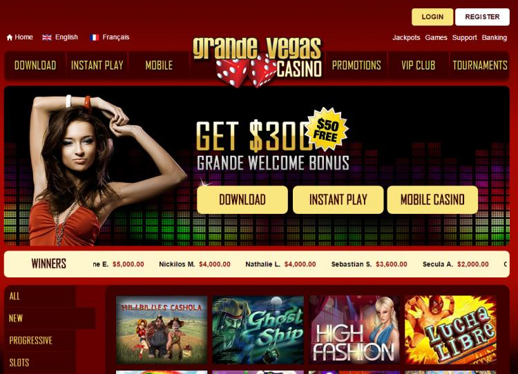 Grande Vegas review on Big Bonus Slots