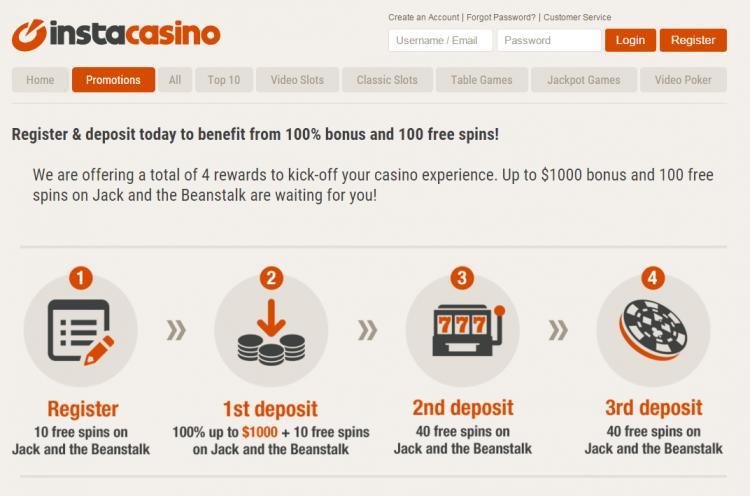 Instacasino review on Big Bonus Slots