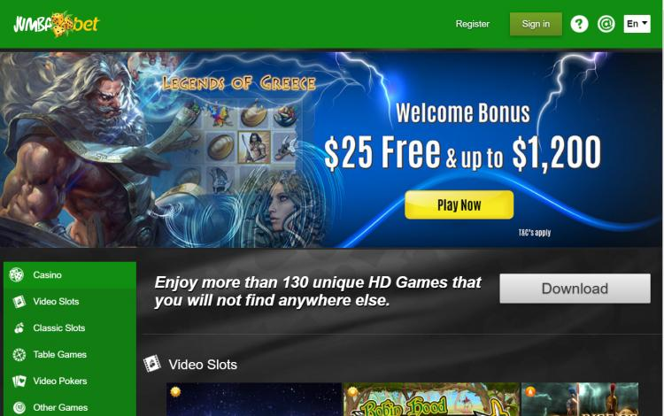 Jumba Bet review on Big Bonus Slots