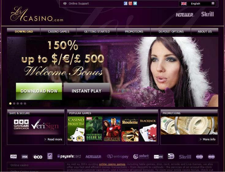 LesA Casino review on Big Bonus Slots
