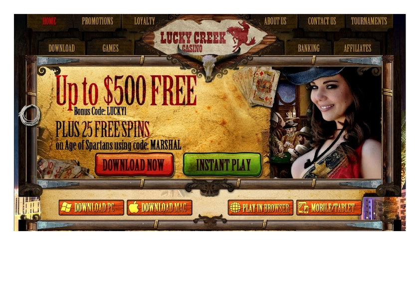 Lucky Creek review on Big Bonus Slots