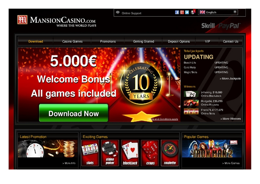 MANSION review on Big Bonus Slots