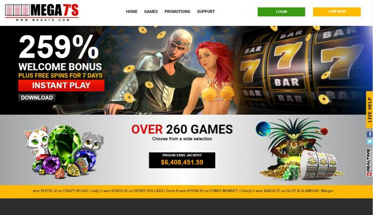 Mega 7's review on Big Bonus Slots