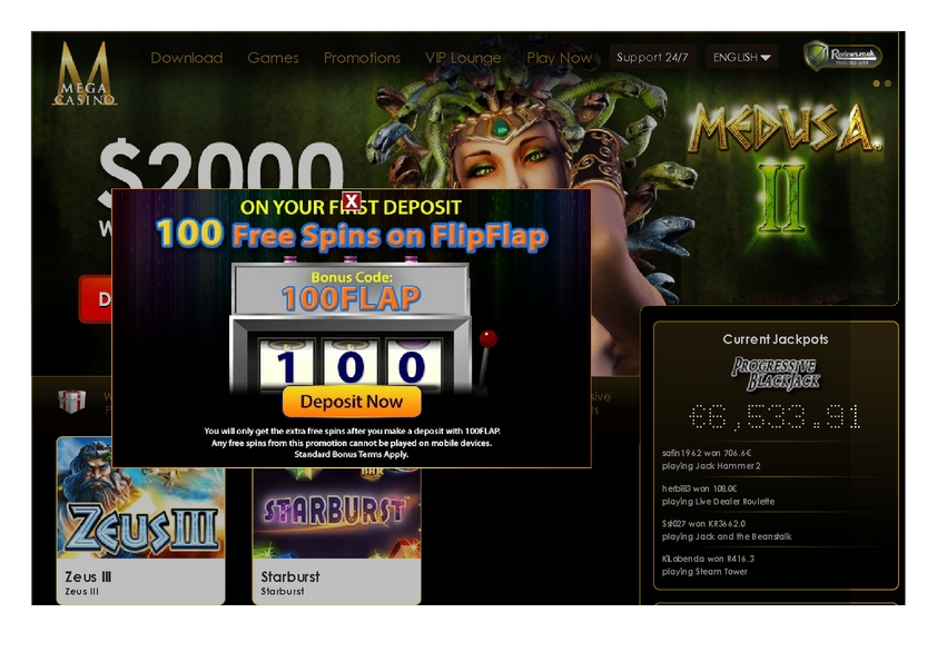 Mega Casino review on Big Bonus Slots