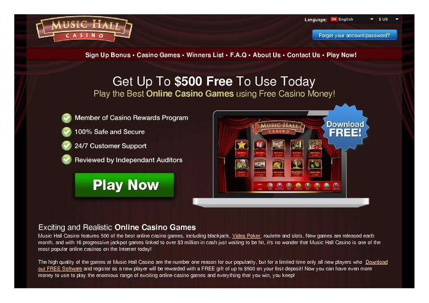 Music Hall review on Big Bonus Slots