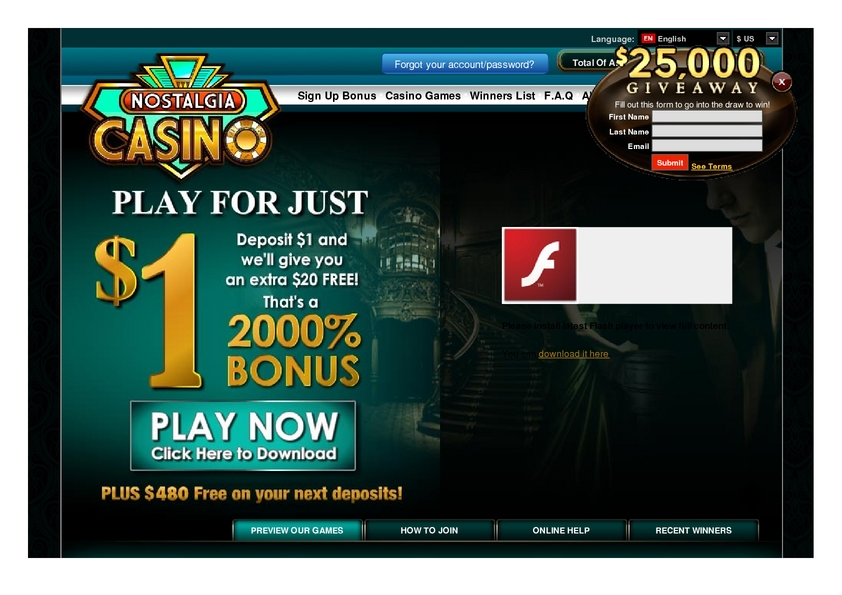 Nostalgia Casino review on Big Bonus Slots