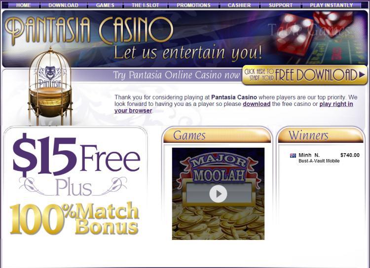 Pantasia review on Big Bonus Slots