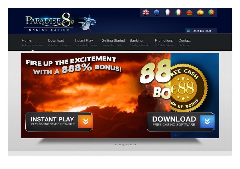 Paradise 8 review on Big Bonus Slots