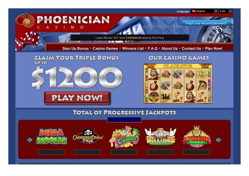 Phoenician review on Big Bonus Slots