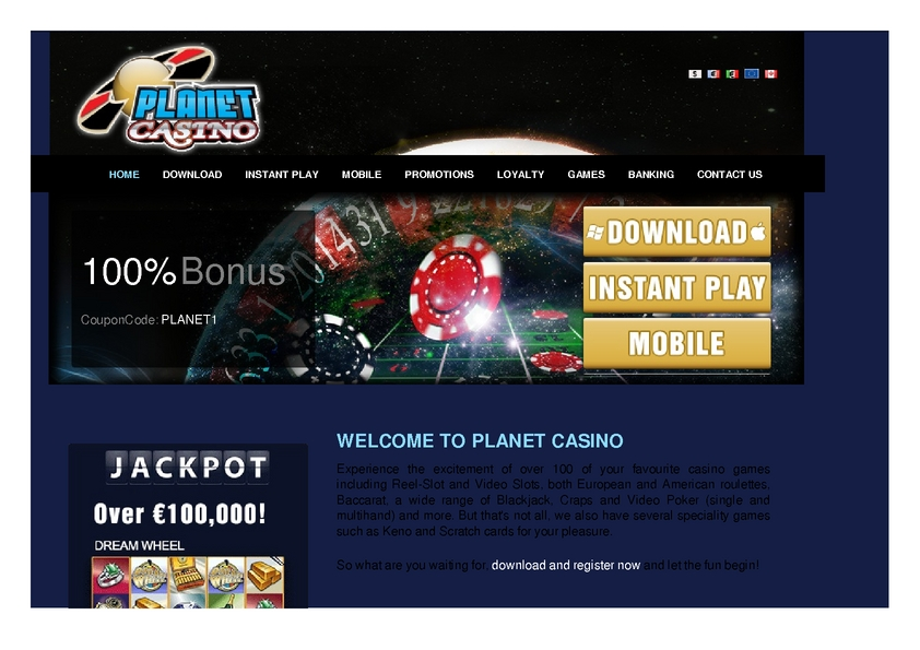 Planet Casino review on Big Bonus Slots