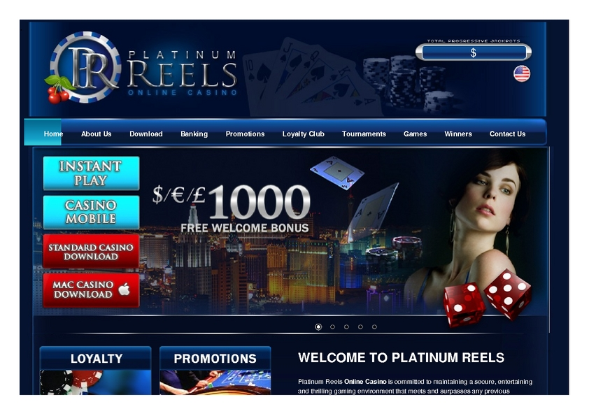 Platinum Reels review on Big Bonus Slots