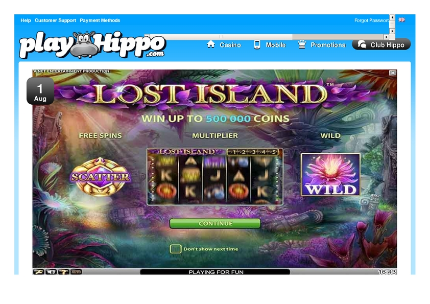 Play Hippo review on Big Bonus Slots