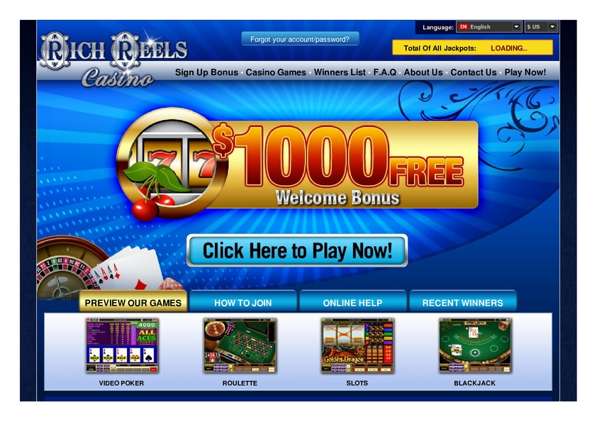 Rich Reels review on Big Bonus Slots