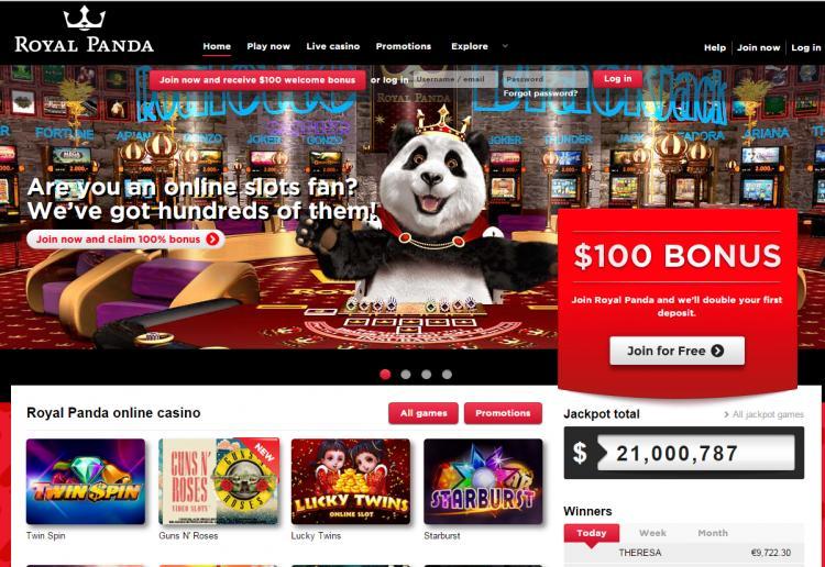 Royal Panda review on Big Bonus Slots