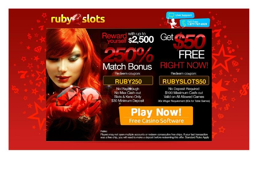 Ruby Slots review on Big Bonus Slots