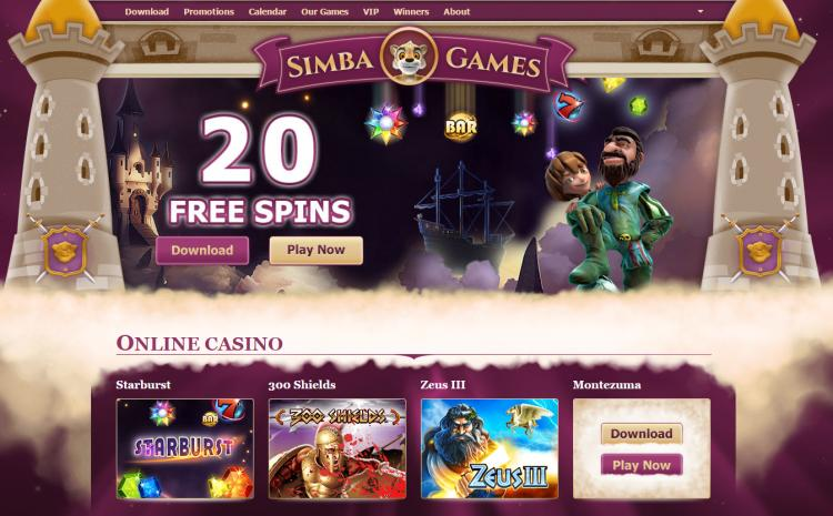 Simba Games review on Big Bonus Slots