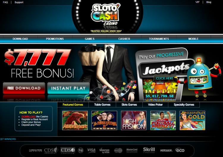Sloto Cash review on Big Bonus Slots